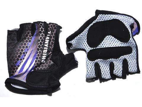 Перчатки для велосипедистов. Материал: синтетическая ткань, сетка. Размер L.  JZ-4033