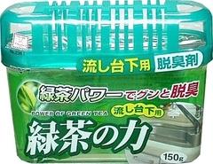 Дезодорант-поглотитель запахов, KOKUBO, под раковину, зелёный чай, 150 г