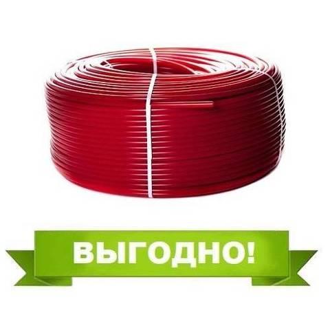 Труба из сшитого полиэтилена STOUT - 16x2,0 (PE-Xa/EVOH, PN8, Tmax 95°C, цвет красный, отрезок 30м.)