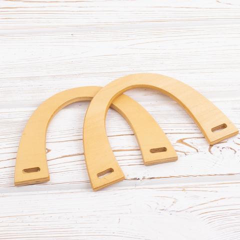 Деревянные (фанерные) ручки для сумки N11 Бежевые