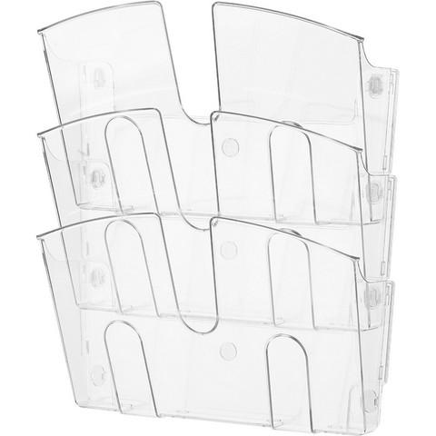 Дисплей настенный Attache из полистирола 3 отделения (310x430 мм)
