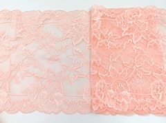 Эластичное кружево, нежно-розовый, 25см (Артикул: EK-1024), м