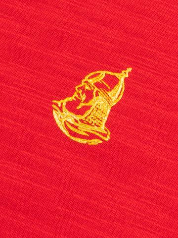 Женская футболка «Великоросс» алого цвета