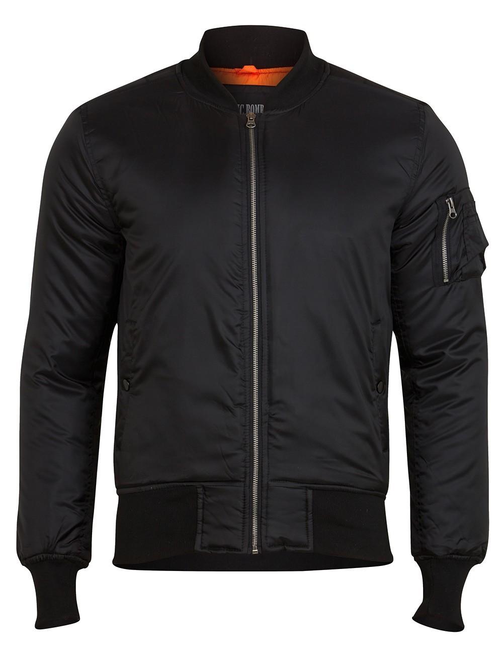 Куртка Бомбер - MA-1 Surplus Basic Bomber (черная - black)