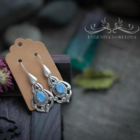 """Винтажные швензы крючки """"Капелька"""" 16 мм (оксид серебра) (Серьги ручной работы. Пример)"""