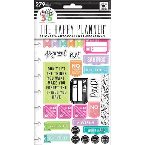 Блок со стикерами для ежедневника Create 365 Planner Stickers- Get Paid - Classic - 65шт.