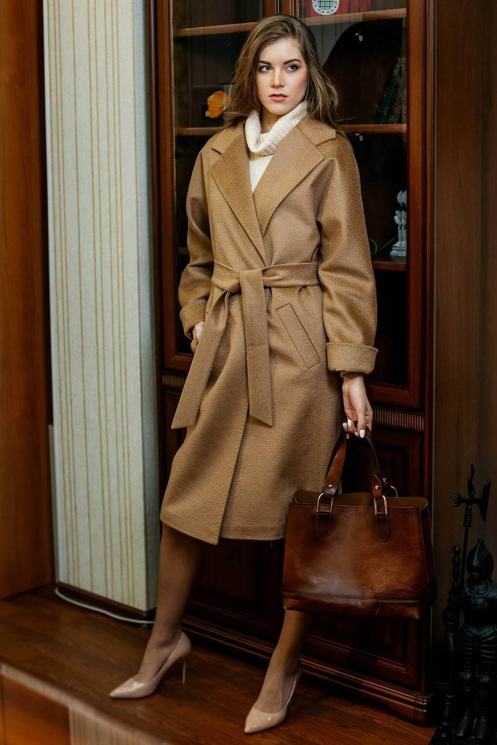 Пальто-халат из верблюжьей шерсти
