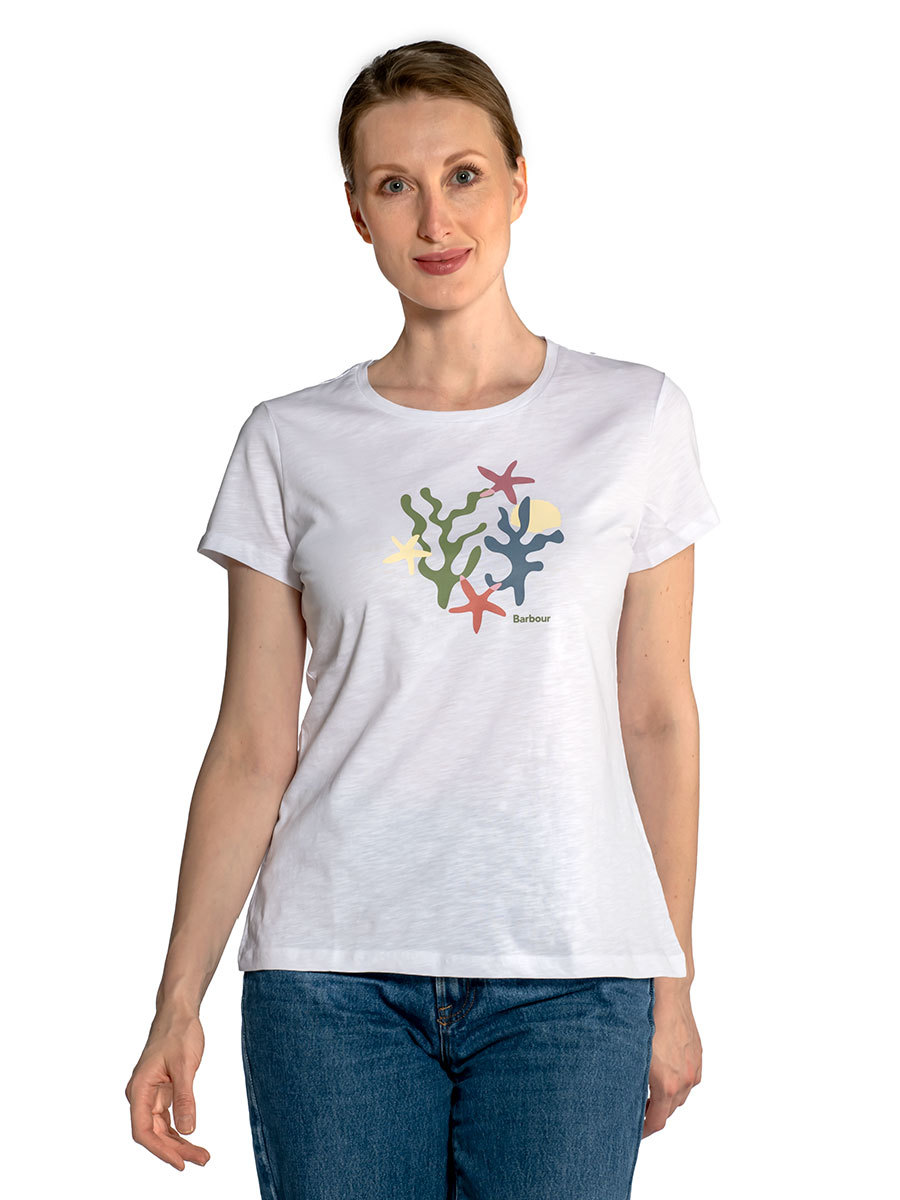 Barbour футболка Springtide Tee LTS0476/WH11