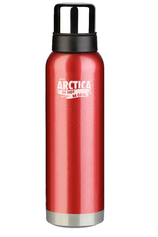 Термос Арктика (1,6 литра) с узким горлом американский дизайн, красный