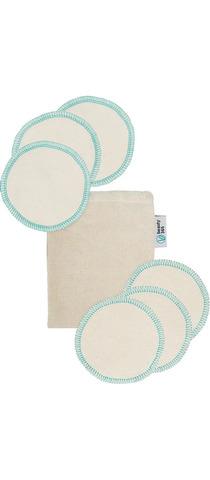 Многоразовые диски для снятия макияжа, 6 штук в наборе с мешочком для хранения, 100% хлопок, Бьюти 365, Beauty365
