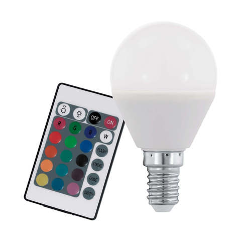 Лампа RGB LED диммир. с пультом ДУ Eglo RGB-W INFRARED LM-LED-E14 4W 300Lm 3000K P45 10682