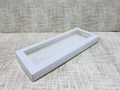 Коробка 30х12.5х2.5 см, картон, с окошком,