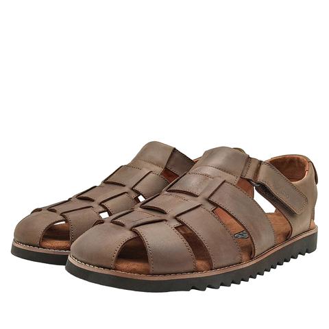 550210 сандалии мужские коричневые. КупиРазмер — обувь больших размеров марки Делфино