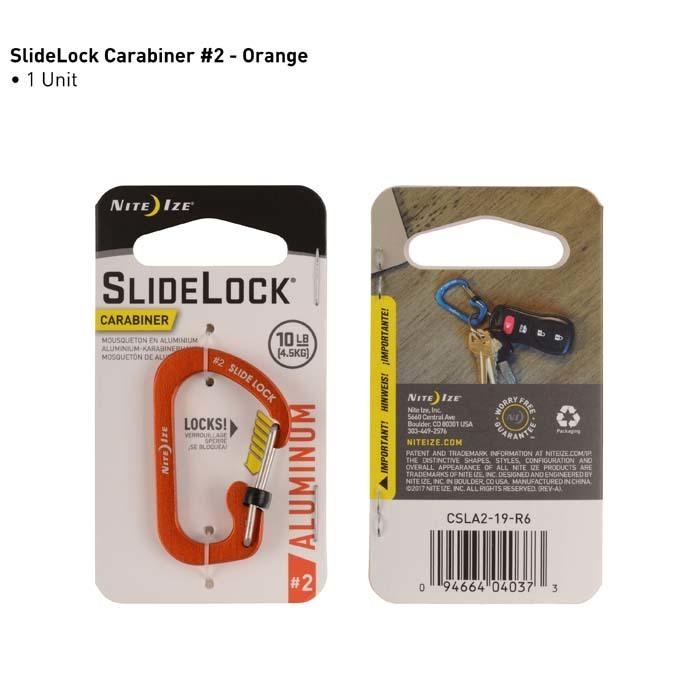 Карабин с блокировкой Nite Ize SlideLock 360 Magnetic Locking Dual Carabiner оранжевый