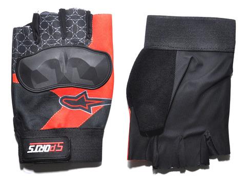 Перчатки для велосипедистов с усилением над синовиальными суставами пальцев. Материал: синтетическая ткань, сетка. JZ-4115.