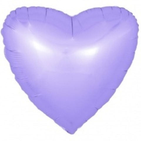 F 18''/46 см Сердце, Сиреневый, Сатин, 1 шт.