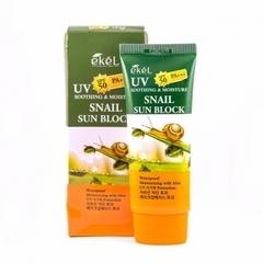 Солнцезащитный крем Ekel UV Soothing & Moisture Snail Sun Block SPF 50 PA+++ с муцином улитки 70 мл