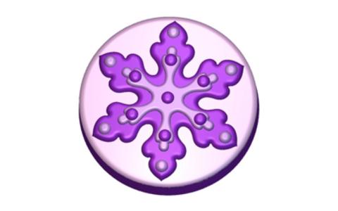 Снежинка 2. Форма для мыла пластиковая
