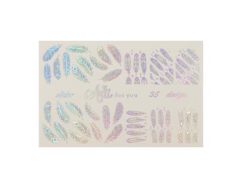Фольга для дизайна ногтей серебро галогеновое 35 купить за 120руб