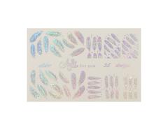 Фольга для дизайна ногтей серебро галогеновое 35