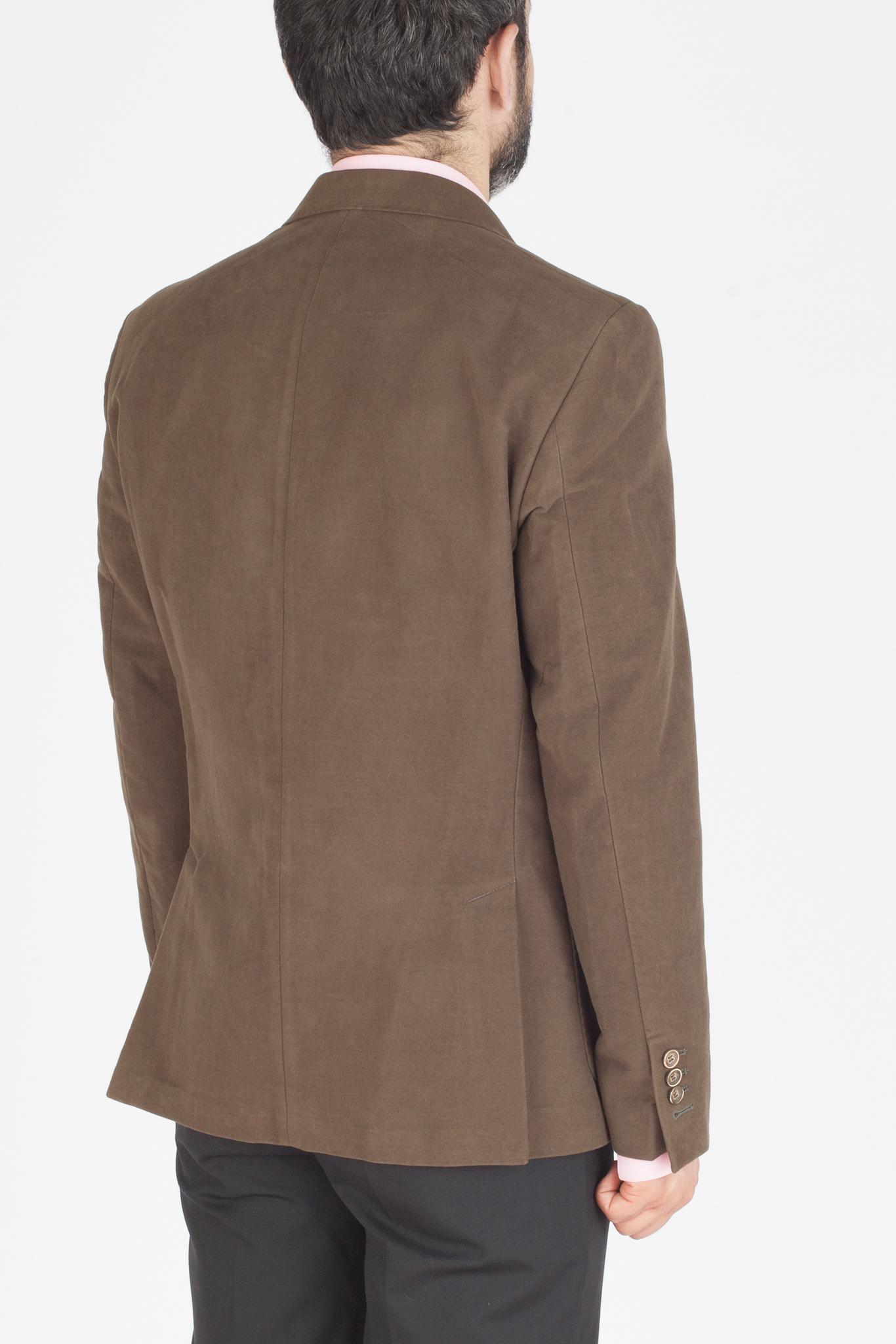 Зелёный (и коричневый) блейзер из 100%-ной шерсти