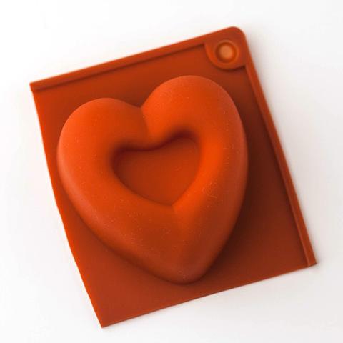 Форма для мыла Кекс сердце 1