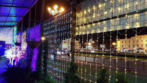 Дождь светодиодный уличный 3*3м 1008LED хол/бел