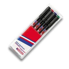 Набор маркеров Edding E-141 F/4 для глянцевых поверхностей и пленок 4 цвета (0.6 мм)