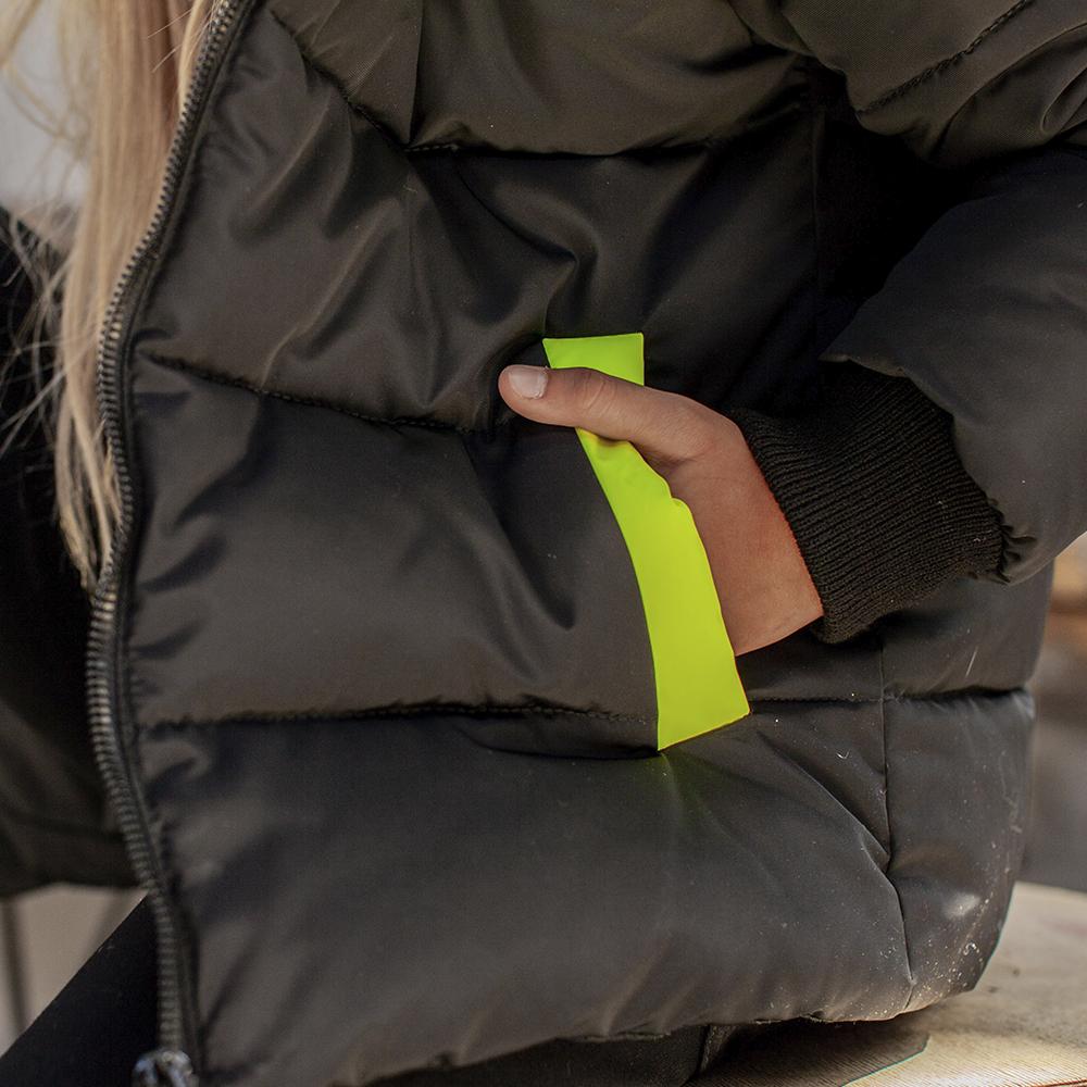 Демісезонна дитяча куртка з світловідбиваючими вставками light Green girl на дівчинку