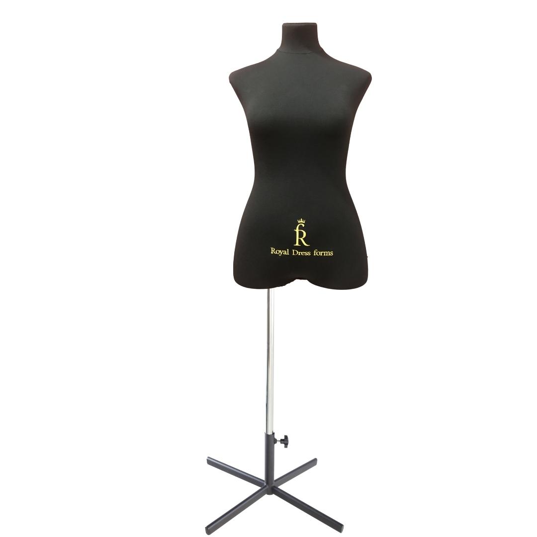 Манекен портновский Кристина, комплект Премиум, размер 44, тип фигуры Песочные часы, черныйФото 1