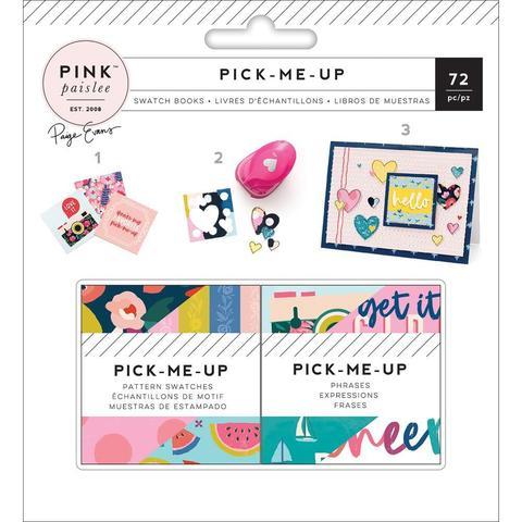 Карточки/стикеры на клеевой основе - Pick Me Up от Pink Paislee -5,2х5,2 см 72 шт