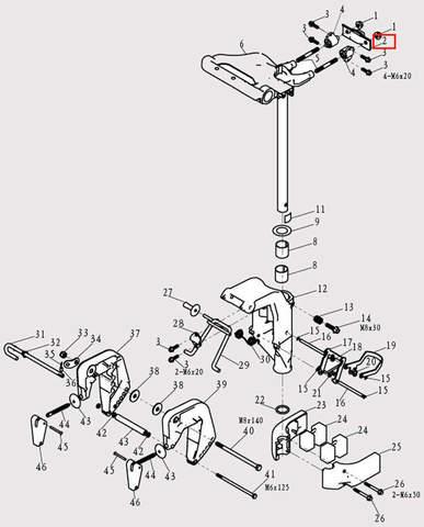 Пластина для лодочного мотора F9.8 Sea-PRO (13-2)