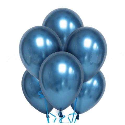 Воздушные шары хром синие