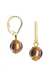 Серьги Примавера золотисто-розовые цвет 76004