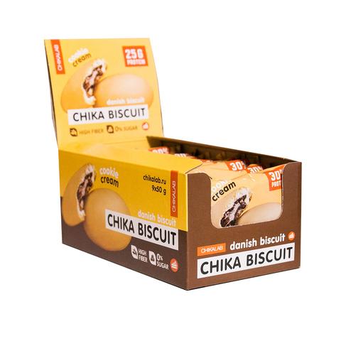 CHIKALAB Печенье неглазированное с начинкой 50 гр (Бисквит датский)