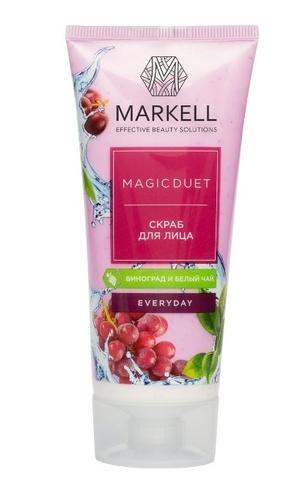 Markell MAGIC DUET СКРАБ для лица -виноград, белый чай 100мл