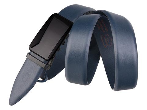 Мужской классический синий ремень из кожи AP35-12