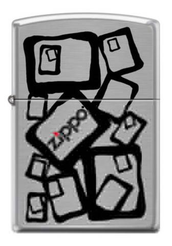 Зажигалка Zippo 2, латунь/сталь с покрытием Brushed Chrome, серебристая, 36x12x56 мм
