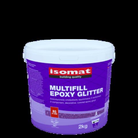 Isomat Multifill Epoxy Glitter/Изомат Мультифил Эпокси Глиттер трехкомпонентная эпоксидная декоративная затирка для швов