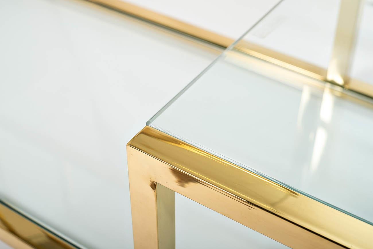 Консоль прозрачное стекло/золото (GY-CST8005GOLD) Garda Decor