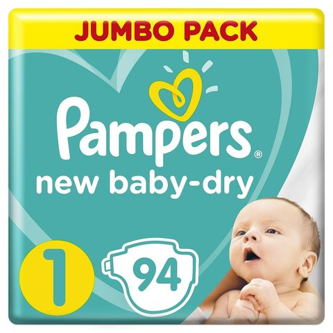 Подгузники Pampers New Baby-Dry 1 2-5кг 94шт