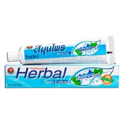 Зубная паста Herbal Twin Lotus Fresh&Cool с травами 100г