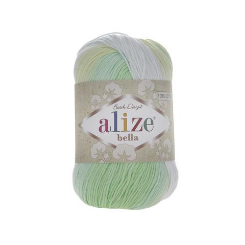 Пряжа Alize Bella Batik меланж жел-зел 2131