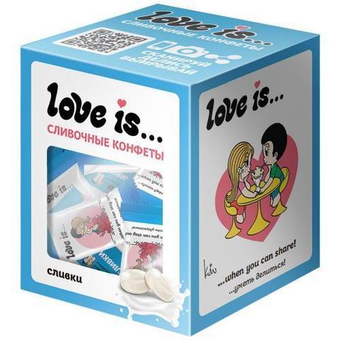 Конфеты Love is… жевательные Сливочные со вкусом сливок 105 г