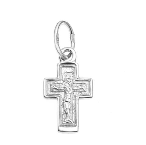 Крест православный нательный серебряный арт. 5-043ч