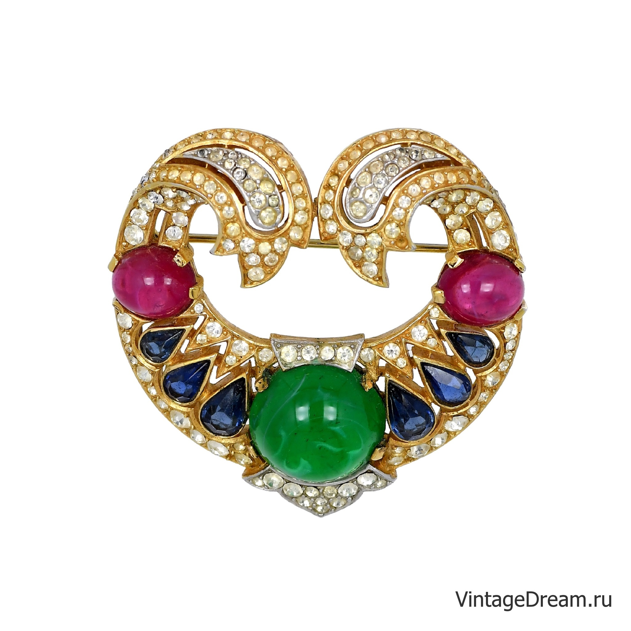 Trifari brooch from the 1965 Jewels of India collection