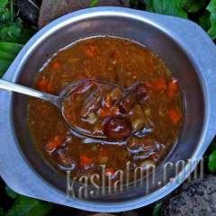 Суп Крестьянский с грибами 'Кронидов', в тарелке