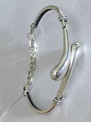 Запятая (браслет из серебра)
