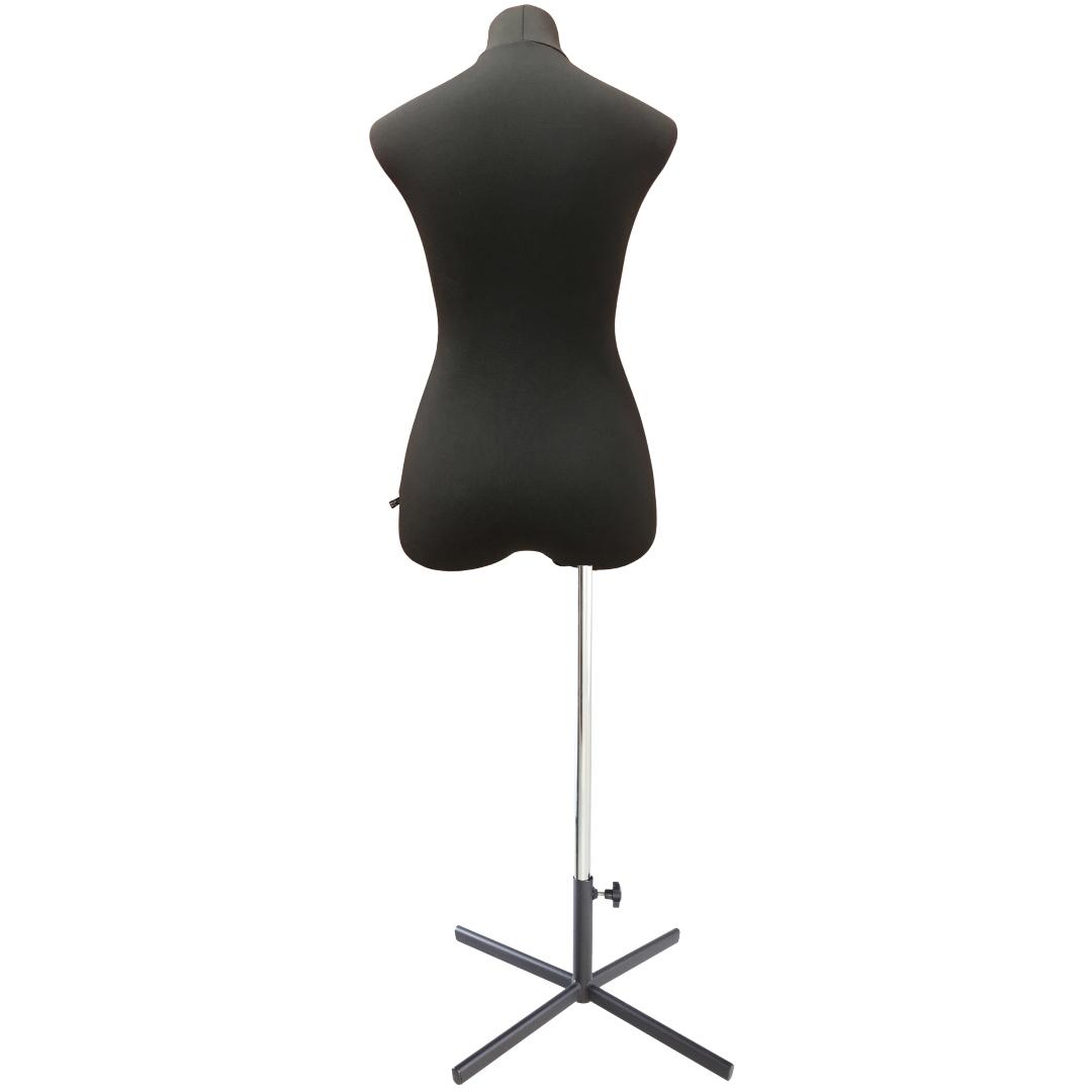 Манекен портновский Кристина, комплект Премиум, размер 44, тип фигуры Песочные часы, черныйФото 4