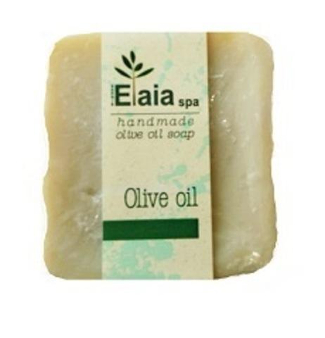 Греческое мыло ручной работы Оливковое без отдушек Elaia spa 100 гр